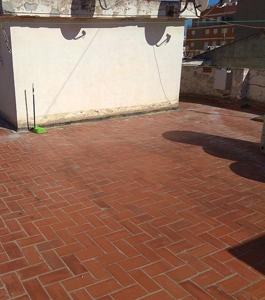 Pintar terraza antes en PinturNeox Castellón